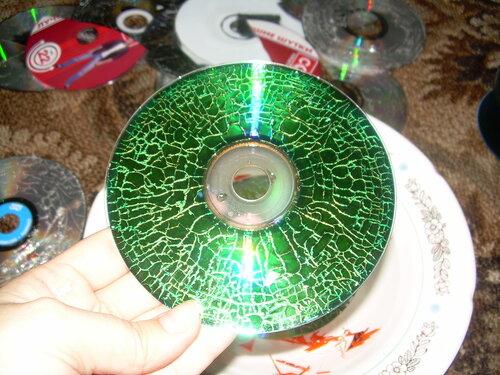 Поделки для сада из сиди дисков