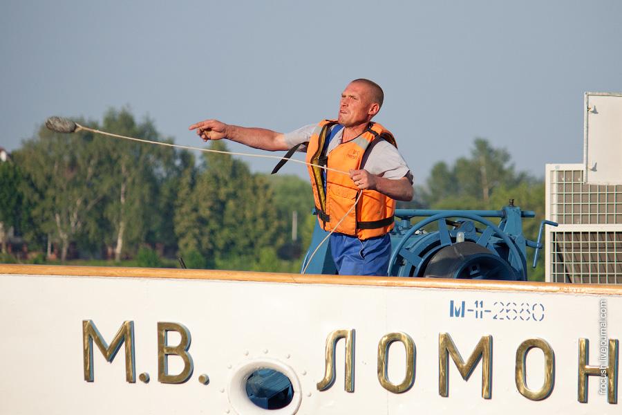 Теплохода «М.В.Ломоносов» (проект 305) в Ярославле