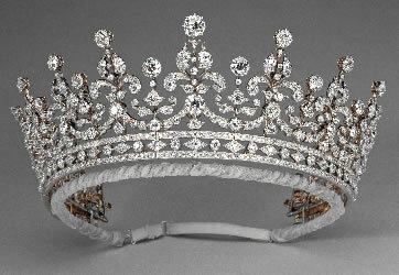 Британская  свадебная тиара (Tiara) королевы Елизабет