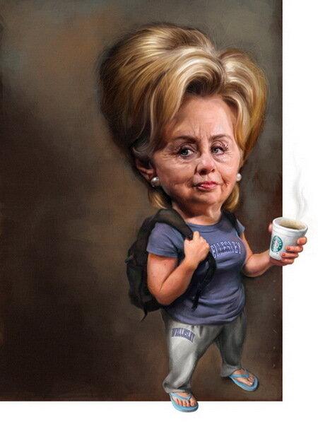 Хиллари Клинтон (Hillary Clinton)Карикатуры Джейсон Сэйлер (Jason Seiler)