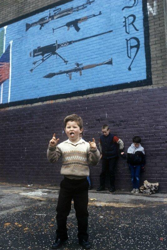 Children play under IRA Mural in Belfast.jpg