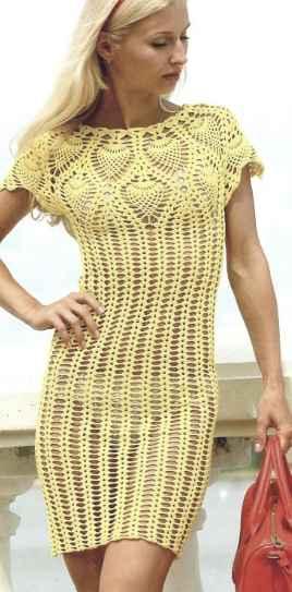 ажурное платье крючком - Самое