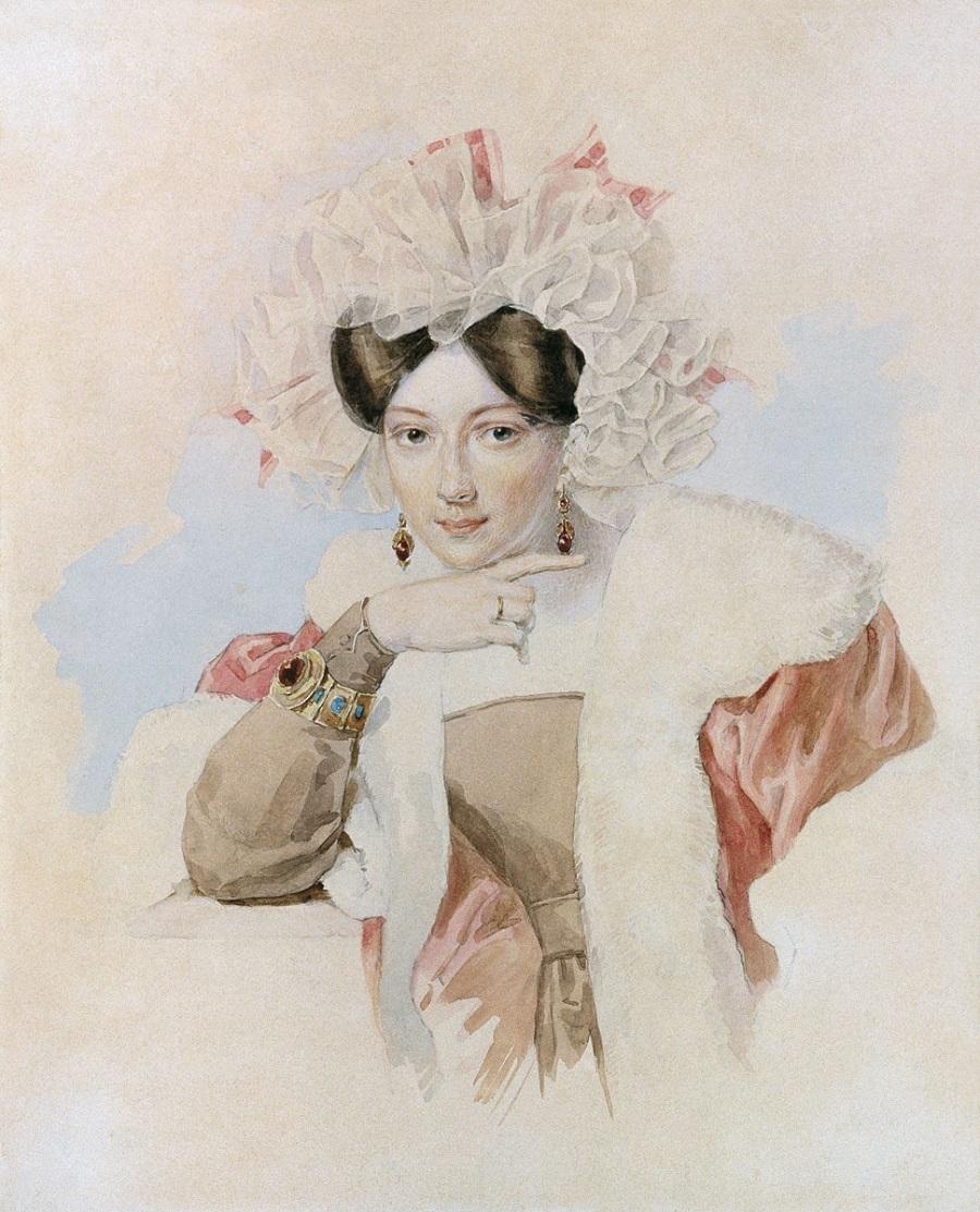 Соколов Петр Федорович  Портрет Ю.П.Соколовой около 1827.jpg