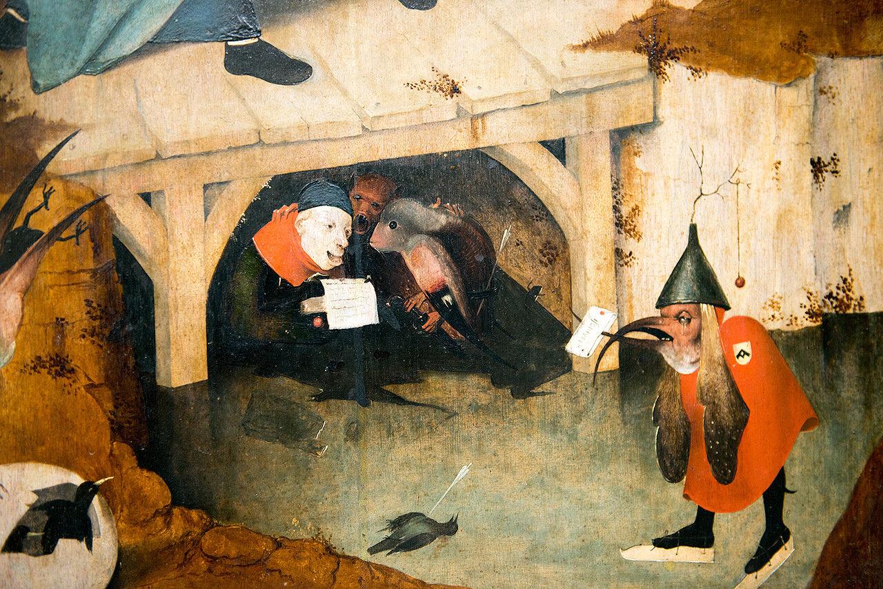 Triptyque de la tentation de saint Antoine - Hieronymus Bosch - Bois-le-Duc vers 1450 - 1516 - Musée d'Art Ancien Bruxelles