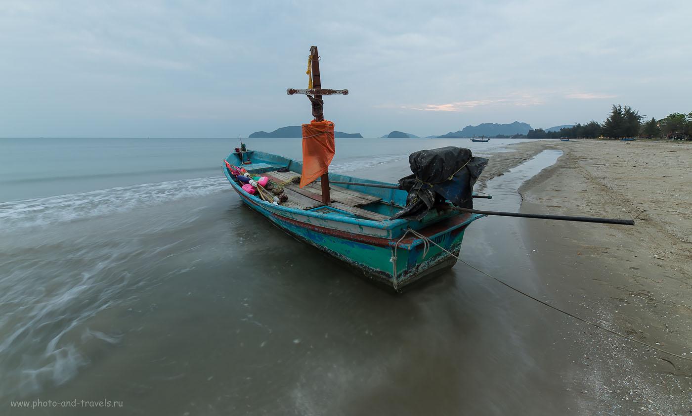 Фотография 2. На заре... Окрестности Хуахина. Отзывы туристов об отдыхе в Таиланде самостоятельно. Путешествие из Екатеринбурга в феврале. ISO 100, ФР=14, F/8.0, В=0,8 секунды