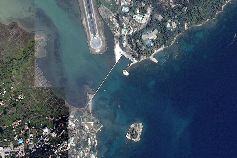Канони на снимке из космоса, скриншот Google Earth