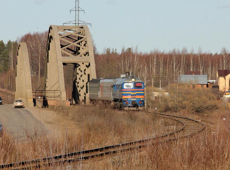 ДМ62-1804 на приближении к станции Калязин со стороны Углича