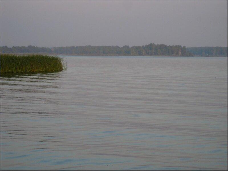 Икшинское водохранилище, летний смог