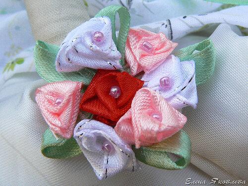 Лизавета с букетом