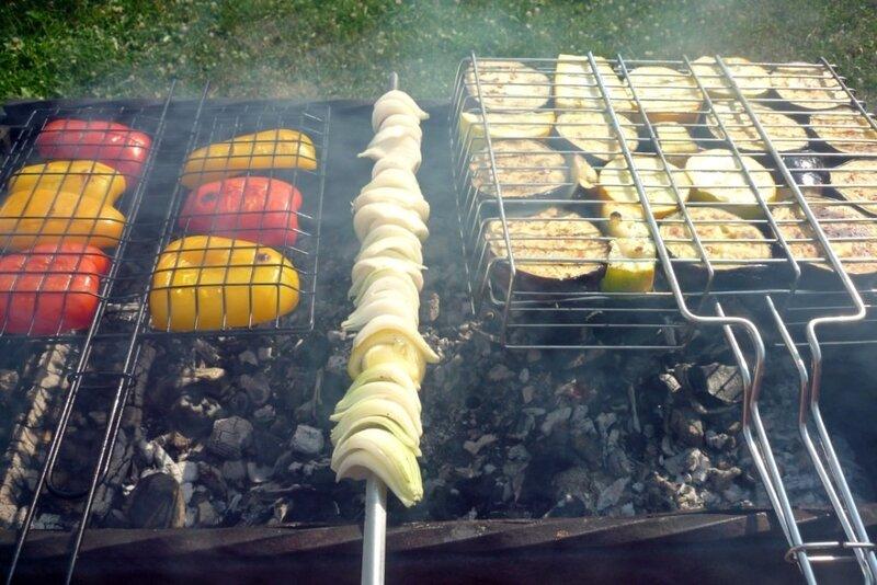 Печеные овощи на мангале
