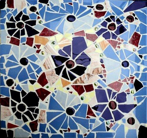 Декорирование столешницы битым кафелем....  0_3e64e_267033c0_L