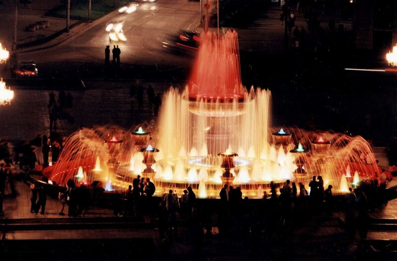 Khabarovsk - Fountain at Night 1