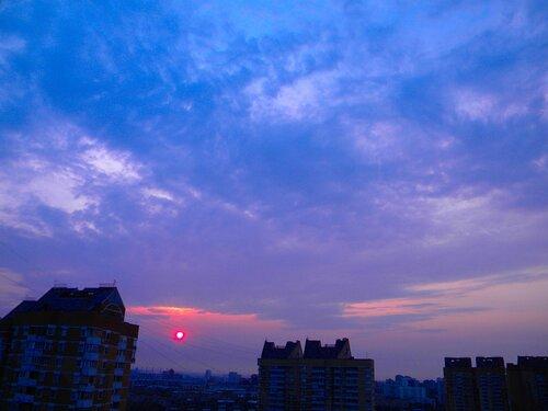 Над городом смог*