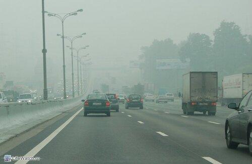 Жара и дым в Подмосковье и Москве