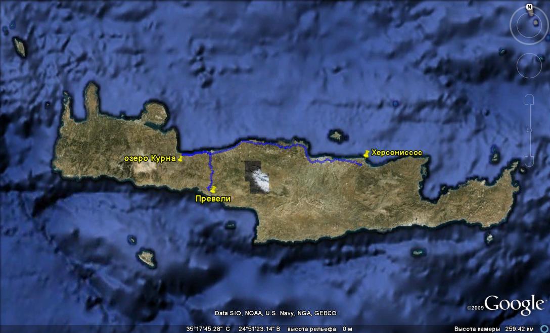 Крит. озеро Курна и пляж Превели