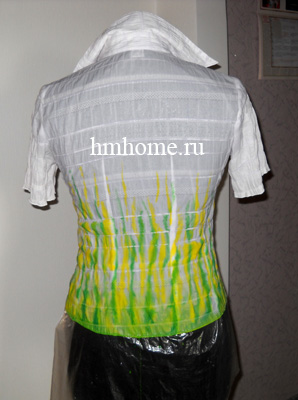 Блуза в технике холодный батик