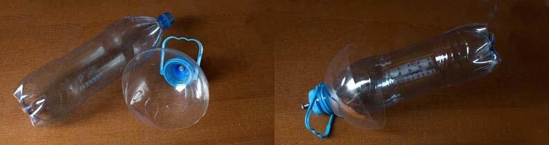 Автопоилка для цветов из пластиковой бутылки