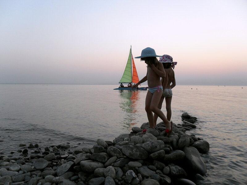 Вечер на берегу Азовского моря