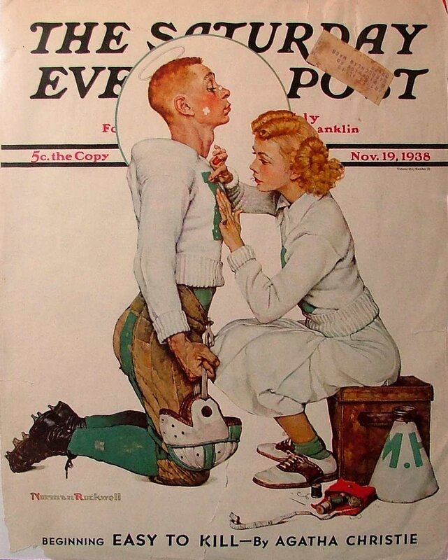 "Norman Rockwell Covers.Обложка журнала ""The Saturday Evening"""