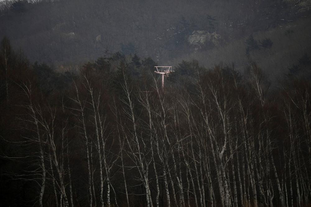 Заброшенный горнолыжный курорт в Южной Корее рядом с местом проведения Зимних Олимпийских игр