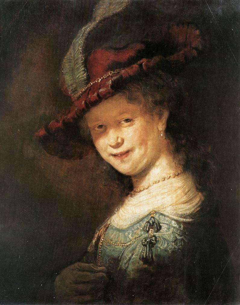Портрет молодой Саскии, 1633.