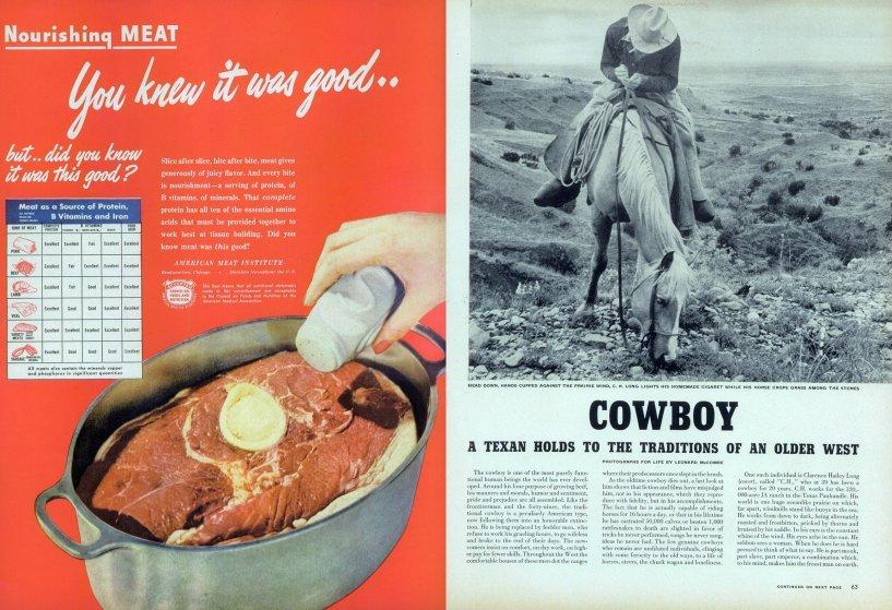 Настоящий техасский ковбой: фоторепортаж журнала LIFE от 1949 года