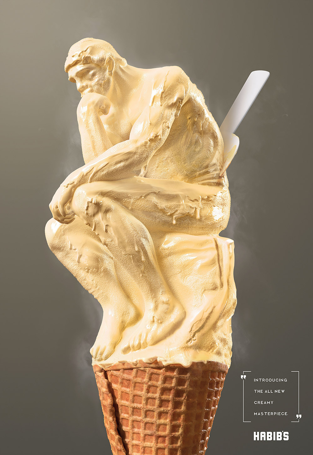 Brilliant Advertising Posters for Artisanal Ice Cream
