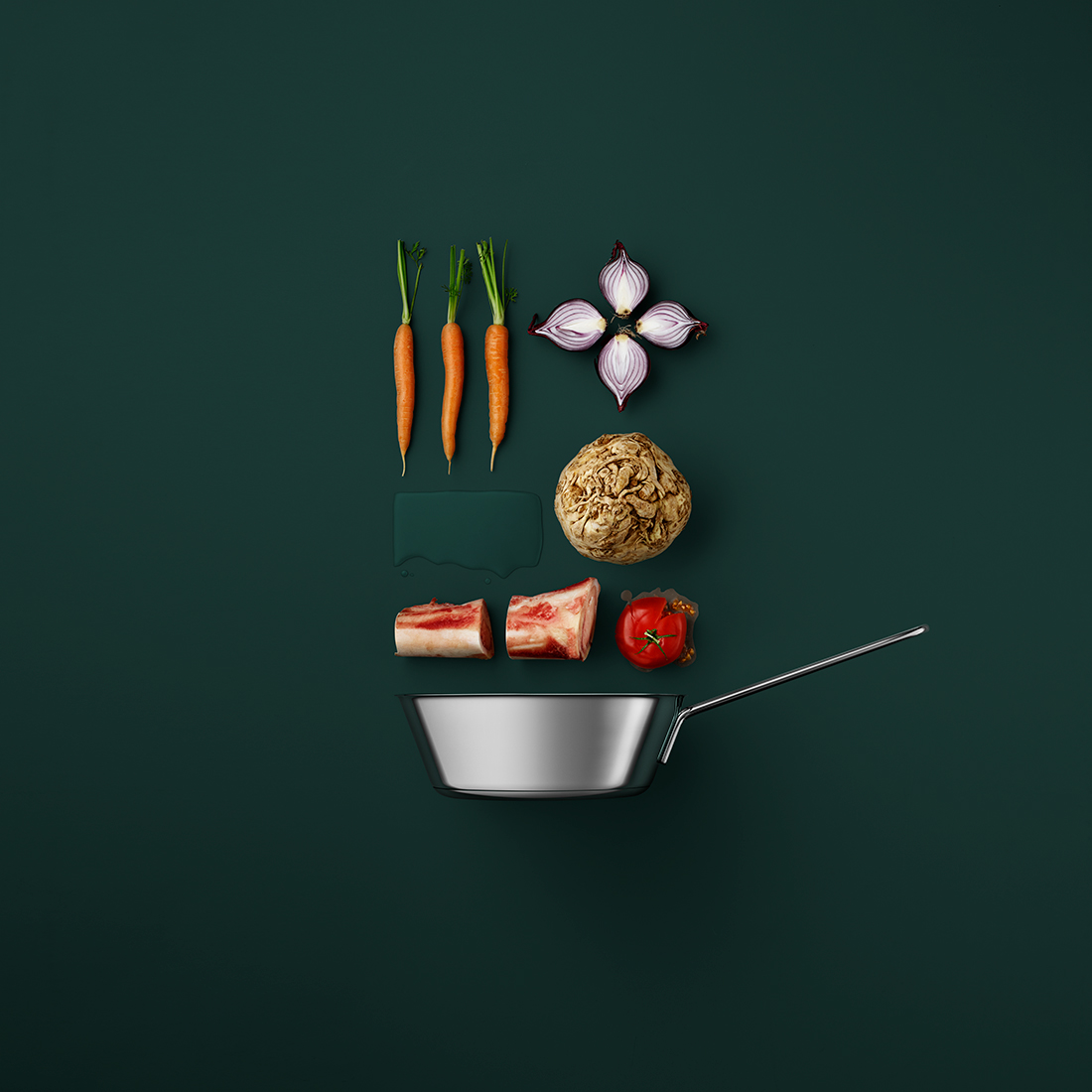Recipes Organized into Component Parts in Food Styling Photos by Mikkel Jul Hvilshoj (6 pics)