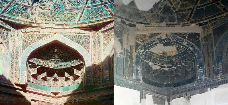 Деталь внутри гробницы Баян-Кули-Хан. 1911 b 2017 год. №21747.jpg