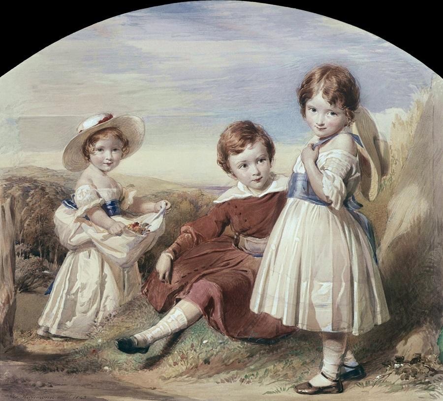 George Richmond swinburne and his sisters.
