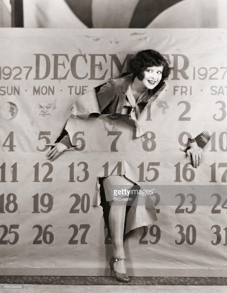 1926. Клара Боу вылазит из календарю