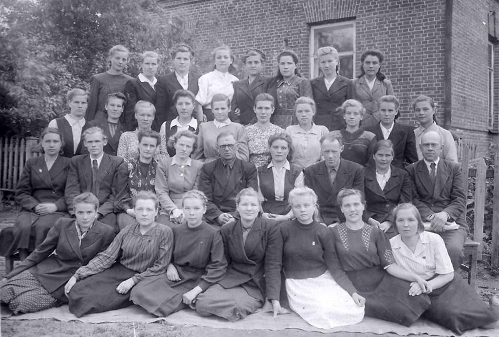 1951. Двор педучилища