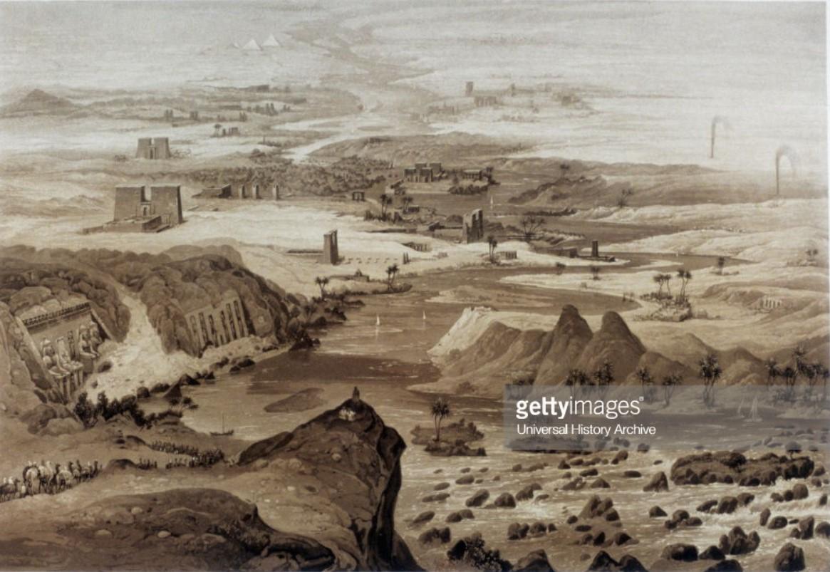 1841. Нильские пороги близ Александрии