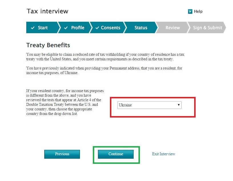 Как заполнить налоговую форму на Айстоке