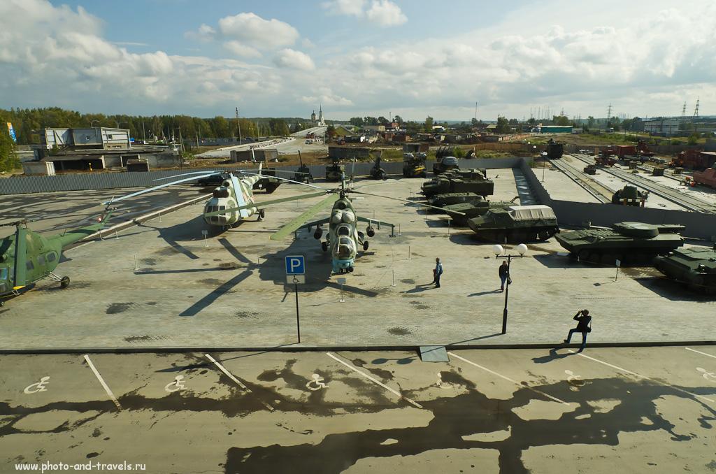 17. Те же вертолеты, но сверху. Музей техники в городе Верхняя Пышма. Как доехать. Стоимость билетов