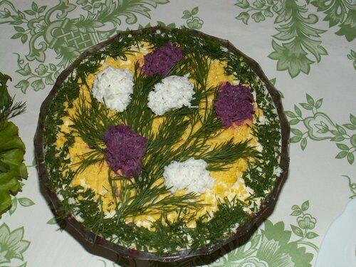 Украшение салатов