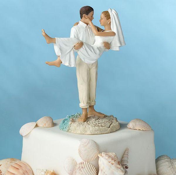Романтичные фигурки для свадебного торта