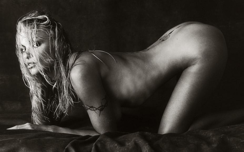 работа фотографа Альберта Уотсона / Pamela Anderson - photo by Albert Watson