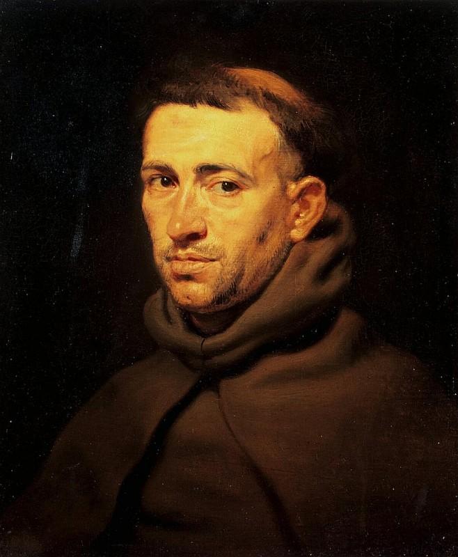 Рубенс Питер Пауль, Голова францисканского монаха, 1615, Эрмитаж
