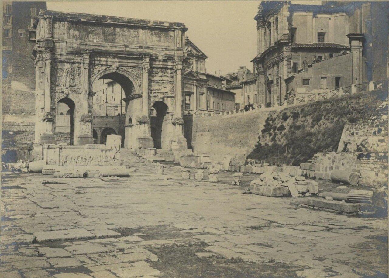 Триумфальная арка Септимия Севера и Форум