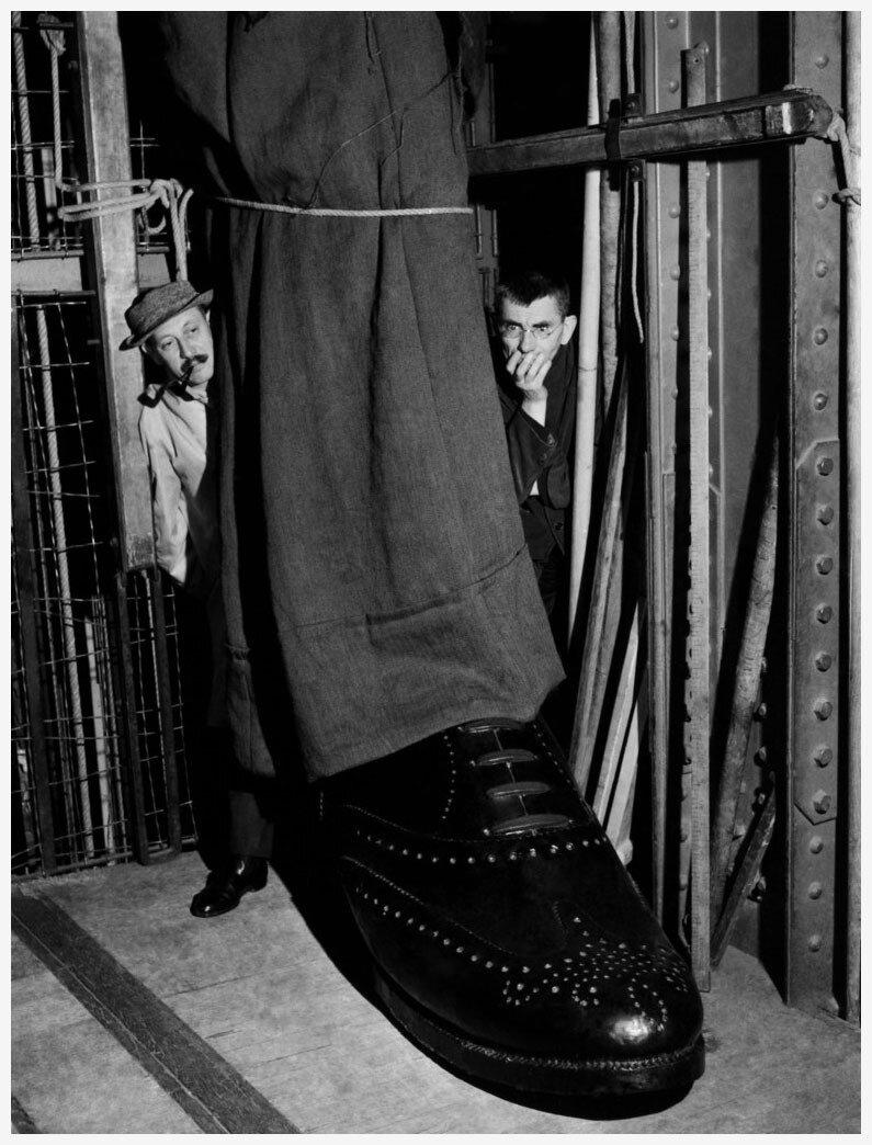 1961. Жан-Мари Серро ставит «Амедей, или Как от него избавиться»  Ионеско (Жорж Лафэ, оформитель)