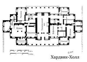 Хардвик-Холл, план
