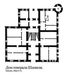 Дом генерала Шамиля, план