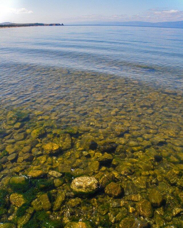 Байкал, прозрачная вода