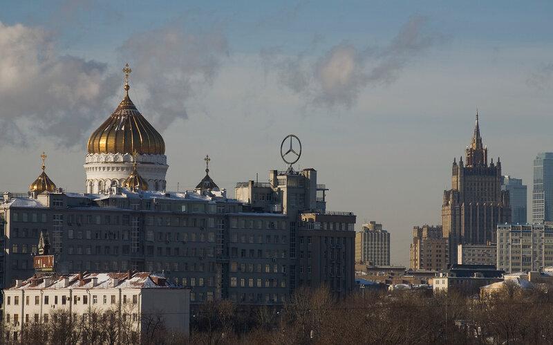 Из окна московского офиса