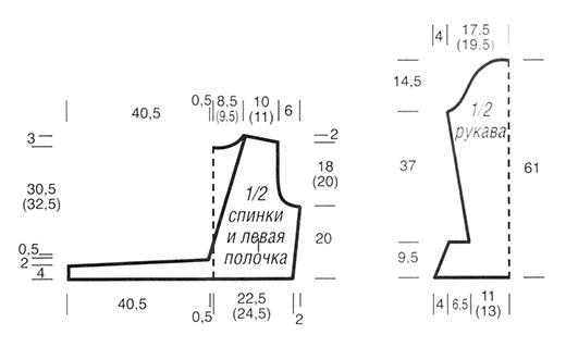 Болеро с поясками-завязками схема