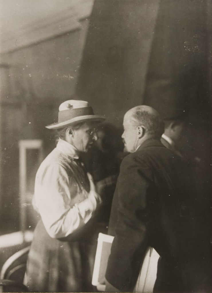 Vladimir Lenin with Elena Stasova at the Second Congress of the Comintern, 1920