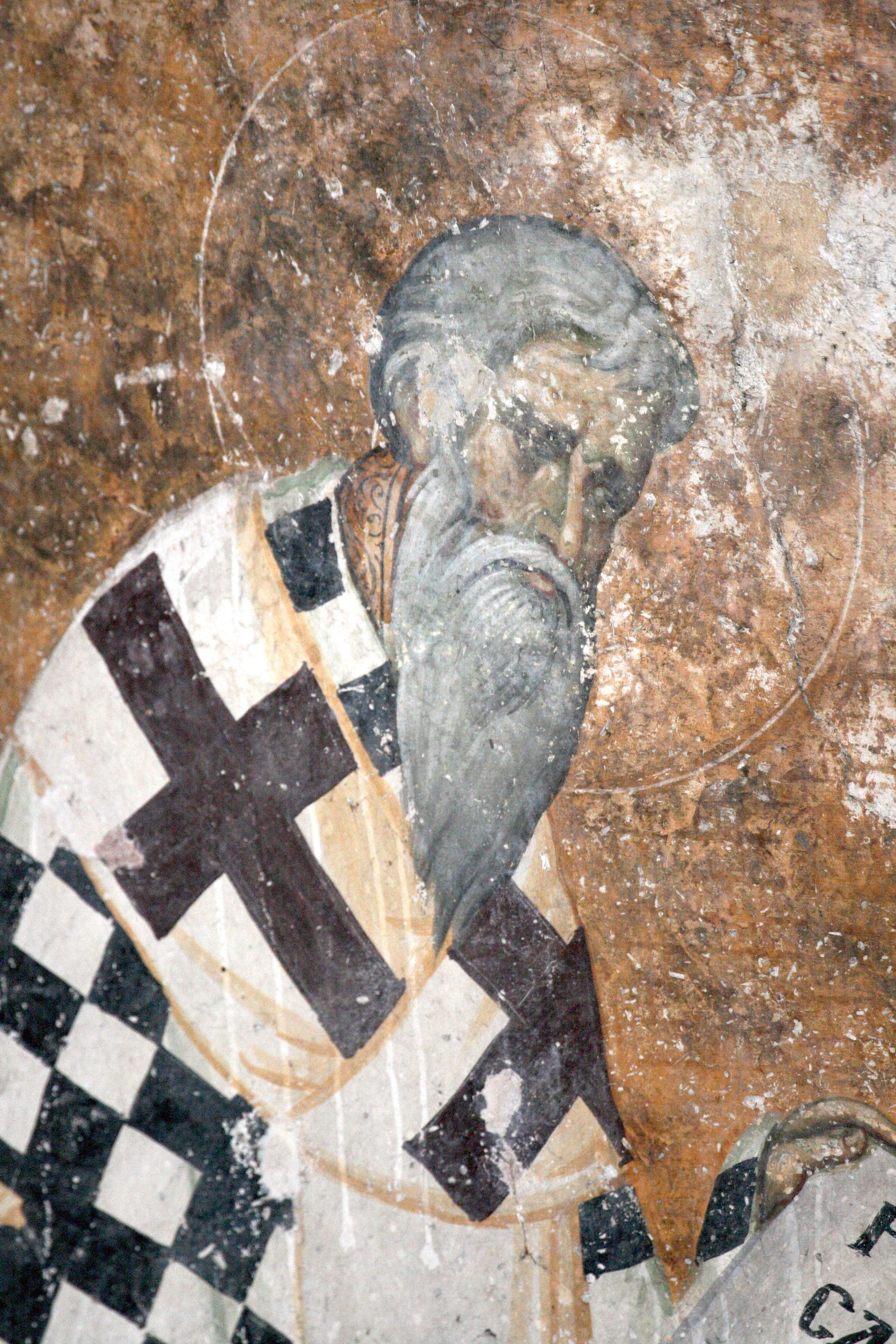 Святитель. Фреска монастыря Сопочаны, Сербия. XIII век.
