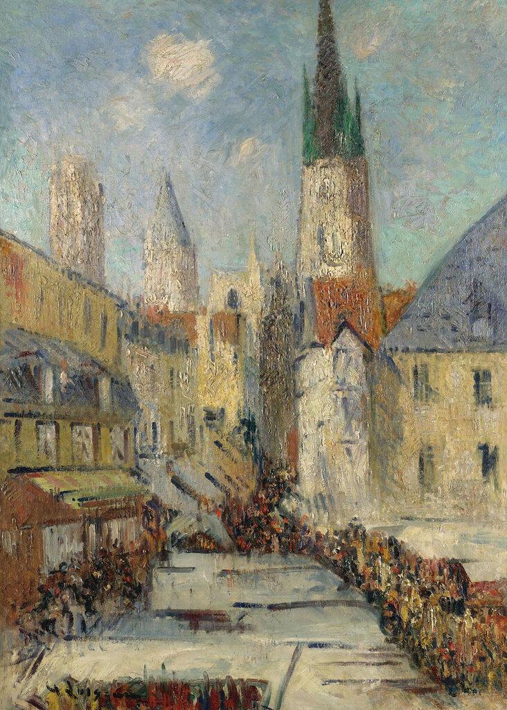 Gustave Loiseau - The Epicerie Street and the Cathedral of Rouen, 1929.jpeg