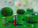 """Летний пейзаж"", холст, масло 60х80 2010"